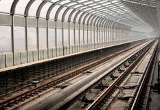 Urban light rail route Stock Photography