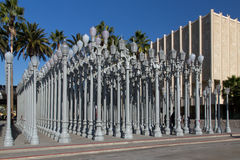 Urban Light Sculpture Los Angeles County Museum of Art Stock Image