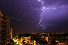 Urban lightning Stock Images
