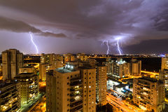 Urban lightning Royalty Free Stock Photos