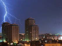 Urban lightning strike Royalty Free Stock Image