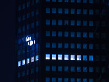 Urban lights at night in Frankfurt, Germany Royalty Free Stock Photo