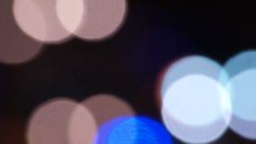 Urban Lights. Night Traffic Lights In Blurry stock video
