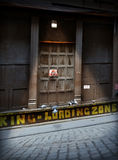 Urban Loading Zone Door Stock Image