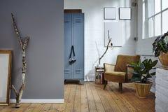 Urban loft industrial building vintage furniture Stock Image