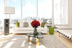 Urban loft with roses Stock Image