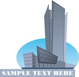 Urban Logo. Modern building. Abstract vector illustration Stock Images