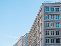 Urban Low Rise Building with Blue Sky Stock Photography