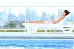 Urban luxury city lifestyle woman Royalty Free Stock Image