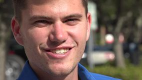 Urban Male, Man, City Resident. Stock video of a man in the suburbs stock footage