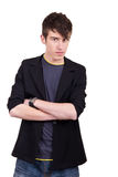 Urban male teenager. Posing on white background Stock Photography