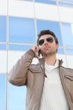 Urban man in aviators Stock Images