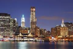 Urban Manhattan New York City skyline Royalty Free Stock Photo