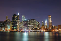 Urban Manhattan New York City skyline Royalty Free Stock Image