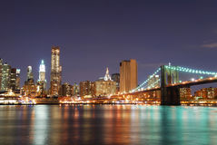 Urban Manhattan New York City skyline Stock Photos
