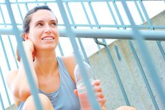 Urban Mature Woman Exercising Royalty Free Stock Photo