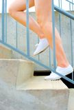Urban Mature Woman Exercising Stock Images