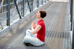 Urban meditation Stock Photos