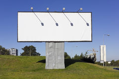Urban metal billboard Royalty Free Stock Photo