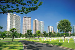 Urban military cemetery Royalty Free Stock Image
