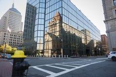 Urban mirror image, Boston. Royalty Free Stock Photography