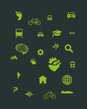 Urban Mobility icons Vol b Stock Image