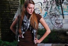 Urban model graffiti Stock Images