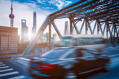 Urban modern buildings and roads Royalty Free Stock Photos