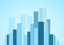 Urban modern city vector panorama Royalty Free Stock Photography