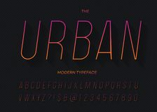 Urban modern dynamic slanted typeface gradient style stock illustration