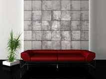 Urban modern interior. 3d generated render of urban interior design Royalty Free Stock Photos