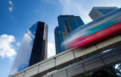 Urban monorail train Royalty Free Stock Photography