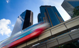 Urban monorail train royalty free stock photo