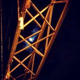 Moon Beams. Urban moonscape light royalty free stock photo