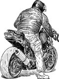 Urban motorcyclist Stock Photography