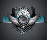 Urban Music Disco Ball Speaker Background. Illustration Stock Photography