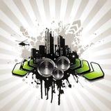 Urban music illustration Royalty Free Stock Photo