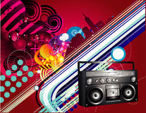 Urban music illustration Stock Photography