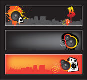 Urban music website banner set Stock Photo