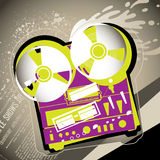 Urban musical background Royalty Free Stock Photography