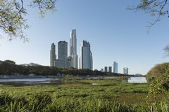Free Urban Nature, Modern Buildings And A Beautiful Lagoon, At The Costanera Sur Ecological Reserve Royalty Free Stock Image - 162964946