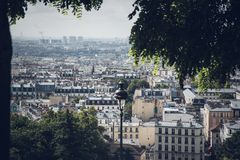 Free Urban Nature View Over Paris Stock Photography - 162333812