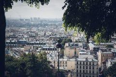 Urban nature view over Paris