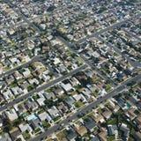 Urban neighborhood. Aerial view of residential urban sprawl in southern California Stock Photography