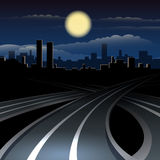 Urban night cityscape Royalty Free Stock Photography