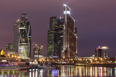 Urban night landscape,night Moscow Royalty Free Stock Photography
