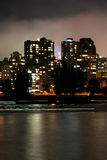Urban night scene. Vancouver royalty free stock photography