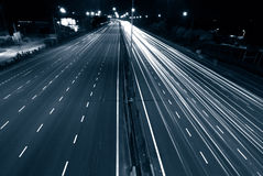 Urban night traffic Royalty Free Stock Photography