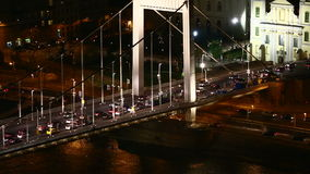 Urban night traffic stock video