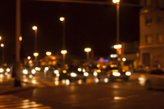 Urban night traffic Stock Photography